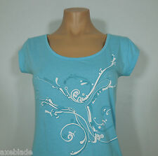 PUMA Active Blue Print Scoop Neck Shirt size M
