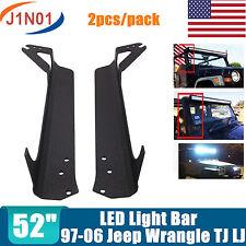 """2X Mount Brackets Fit For Jeep Wrangler TJ LJ 97-06 52""""inch LED Light Bar SALE"""
