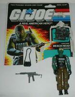 1986 GI Joe Beach Head Army Ranger v1 Figure +1/2 File Card Back *Complete *READ
