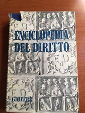 1961- ENCICLOPEDIA DEL DIRITTO - VOL. VIII  Compe - Cong  - GIUFFRE' EDITORE