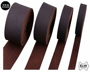 "Brown 5/6 oz. (2mm) Tooling Leather Belt/Strip/Straps 1/2""-4"" W / 68-72"" L"