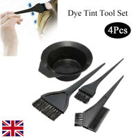 4-Piece Hairdressing Hair Dye Kit Hair Color Brush Comb Mixing Bowl Tint Tools