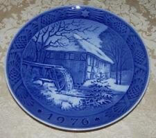 1976 Royal Copenhagen Christmas Plate Water - Mill Blue & White