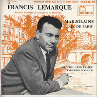 45TRS VINYL 7''/ FRENCH EP FRANCIS LEMARQUE / MARJOLAINE + 3