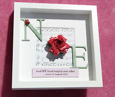 Personalised traditional 1st paper 4th flower wedding anniversary gift frame