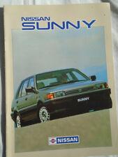 Nissan Sunny range brochure May 1987 UK market