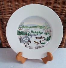 Grandma Moses Atlas China NY Limited First Edition Plate Out For Christmas Tree
