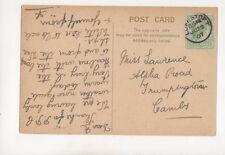 Miss N Lawrence Alpha Road Trumpington 1907 321b
