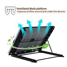 New listing Adjustable Laptop Cooling Stand Lazy Foldable Computer Laptop Stand Tray Holder