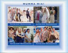 Madagascar 2018 CTO Mamma Mia! Meryl Streep ABBA 4v M/S Music Musicals Stamps