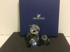 Swarovski Panda Mother With Baby, Bear Crystal Figurine 5063690