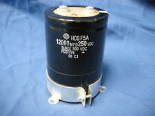 HCG F5A 12000 MFD CAPACITOR 250 VDC SURGE 300 VDC POSITIVE 08 CA