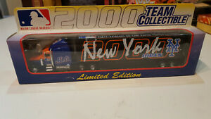 MLB Team Collectable 1:80 Scale Die Cast 2000 METS tractor Trailer NIB