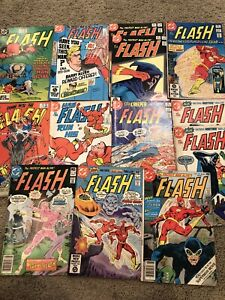 VINTAGE DC COMICS THE FLASH 13 LOT # 252 295 288 299 307 319 318 331  70s 80s