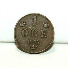 1905 Sweden 1 One Ore Coin KM 750