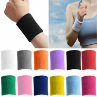 1pc Terry Cloth Cotton Sweatband Sports Wrist Tennis Yoga GYM Sweat WristBand