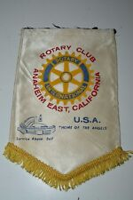 "Vintage Anaheim East CA ""Home of The ANGELS"" Rotary Club International Flag MLB"