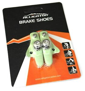 Alligator Road Bicycle Bike brake pads shoes cartridge Bianchi Light Green