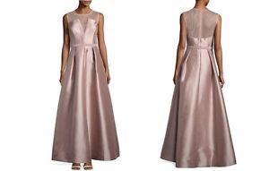 Nicole Miller Illusion Neckline Beaded-waist  Blush Gown Sz 6, 10 NWT