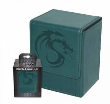 1x BCW GAMING DECK CASE BOX - LX - TEAL - Leatherette with Magnetic Closure