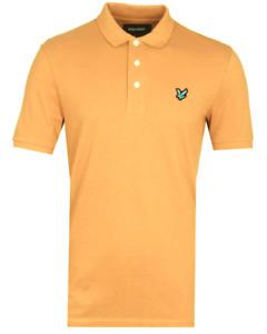 Lyle & Scott Herren Polo Poloshirt Shirt Classic Gr.M  Orange 108706