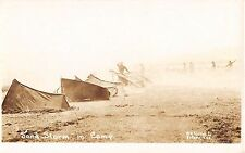 c.1916? RPPC Sand Storm in Army Camp TX Mexican Incursion ?