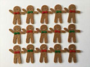 Felt Christmas gingerbread men shapes for crafts