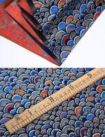 "1/2 YD. 28"" RETRO CHINA ROYAL SILK DAMASK BROCADE FABRIC: DRAGON SCALE DESIGN"