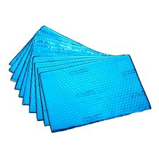 Heavy Duty Sound Deadening Mat 2.0mm 10 Sheets 200mm x 300mm Blue Pack Car Van