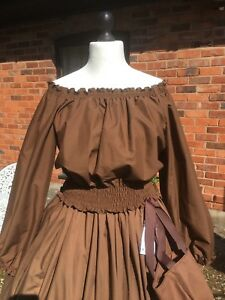 Peasant/Gypsy/Pirate/Steam punk/50's Long Sleeve Blouse all sizes and colours