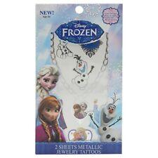 Disney Frozen Metallic Jewelry Tatoos / Temporary Tattoos Gift For Girl 2 Sheets