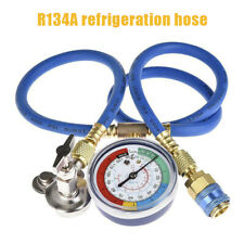 R134A AC Car Air Conditioning Refrigerant Recharge Hose Gas Measuring Kit New
