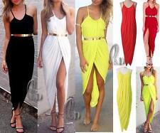Asymmetrical Hem Casual Solid Plus Size Dresses for Women