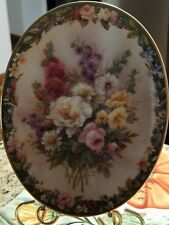 "Lena Liu's Floral Cameo ""Remembrance"" collectible plate #11437 from 1996."