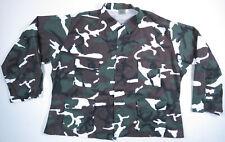 US Army Military Woodland BDU Camouflage Rothco Combat Coat Jacket Shirt 3XL