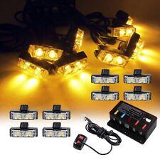 16 LED Amber Light Grill Construction Utility Warning Strobe Hazard Flash 12V