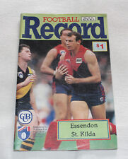1990 AFL Football Record Essendon Bombers v St Kilda Saints Vol.79 No.9