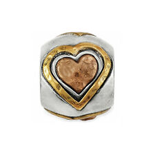 New Brighton ART & SOUL ALL HEARTS  2 Tone Bead Charm  RETIRED !