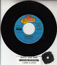 """LYNYRD SKYNYRD  What's Your Name? & I Know A Little 7"""" 45 rpm vinyl record NEW"""