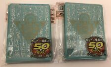 (100)YUGIOH Card Deck Protectors Millenium Puzzle Card Sleeves  Light Blue