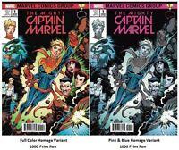 Mighty Captain Marvel #1 Brain Trust Variant SET Ms. Marvel Homage Movie 2019