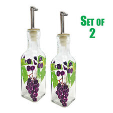 2 Oil Vinegar Cruet 6 oz GRAPES Grand Howard Hand Painted