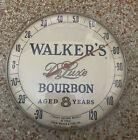 VINTAGE WALKER'S DELUXE BOURBON WHISKEY HIRAM WALKER & SONS GLASS THERMOMETER