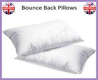 2x Luxury Bounce Back Pillows, Optimum Quality Hollow Fibre Pillows