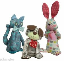 Sewing patterns dog cat rabbit, pack of three patterns by pcbangles