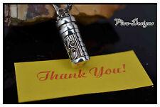 Handmade 925 Sterling Silver Ornamental Prayer Box With Chain