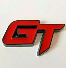 Red Black Metal 3D GT Badge Sticker for Porsche 911 924 944 Boxster Cayenne 996