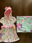 NWT Minnie Mouse Cover Up dress size 4 Pink bow and minnie beach towel UPF 50