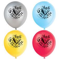 BATMAN Gotham Hero LATEX BALLOONS (8) ~ Birthday Party Supplies Decorations DC