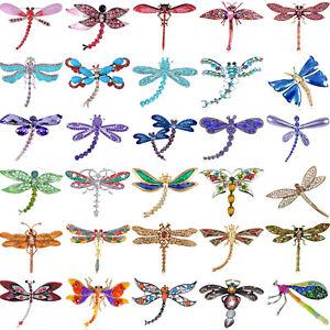Fashion Rhinstone Shiny Dragonfly Design Pin Brooch Party Wedding Xmas Gift New